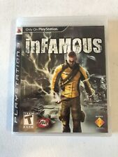 InFamous PS3 Playstation 3 Black Label Complete w/ Manual & Case - Tested