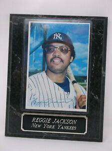 REGGIE JACKSON NY Yankees Photo Plaque with Facsimile Signature