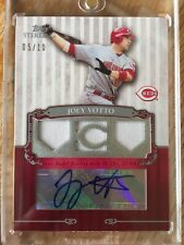 2009 Topps Sterling Career Chronicles Triple Relic Autograph Joey Votto /10 Auto