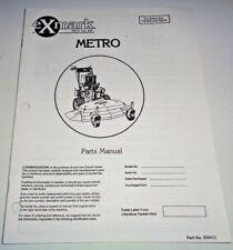 EXmark  Metro Walk Behind Front Mower Parts Catalog Manual s/n 130,000 & Higher