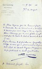 LAS Octave Uzanne bibliophile homme de lettres à Emmanuel Gonzalès Musset 1881