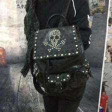 Nieten Strass Totenkopf Rucksack Gothic Bag Punk Fantasy Tasche