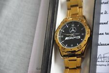 24K Gold Plated Mercedes Benz AMG Style Luxury Car Wrist Watch Men Women Gift