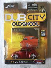 Jada Toys Dub City Old Skool 1959 '59 Volkswagen VW Beetle Red Die-Cast 1/64
