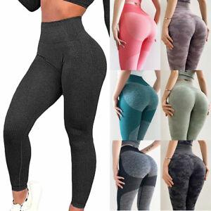 Women Seamless Leggings Gym High Waist Push Up Sport Fitness Yoga Pants Shark C1