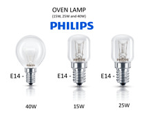 PHILIPS Oven Lamps Cooker Light Bulbs 40w 25w 15w 240v SES E14 300 Degree