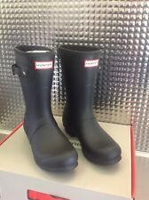 Womens Hunter Wellies Size UK 6 Black Original Short Boots Ladies New