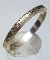 Jugendstil Ring Ehering Verlobungsring 800 Silber um 1910 Herstellerpunze, RG 70