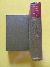 Léon Séché Alfred de Vigny Editions Mercure de France 1913 2 volumes