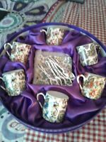 VINTAGE CC&T FOR COFFEE & TEA CUPS & SAUCERS SET GIFT BOX MADE IN CHINA12pc.