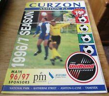 Curzon Ashton v Warrington. 31st August 1996. UniBond League