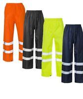 Workwear Hi Vis Viz Visibility Work Wear Safety Over Trousers Waterproof Pants