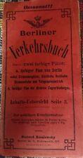 Sehr rar! Berliner Verkehrsbuch mit 2 farbigen Plänen 1903 Hochbahn Stadtbahn
