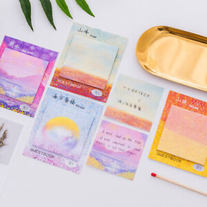 120 Sheets Oil Painting Picture Paper Sticky Notes Memo Card Gift Marker