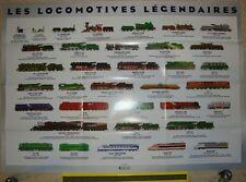 Poster AFFICHE Locomotives de légende Bugatti, 232 U, 2D2, 141 R - Atlas 83x59
