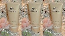 LOT~ Lacoste Pour Femme ~ 2.5 oz / 75ml EACH ~ Perfume d Shimmer Body Lotion s