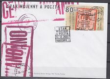 POLAND 2000 FDC SC#3564 Martial Law and Mail