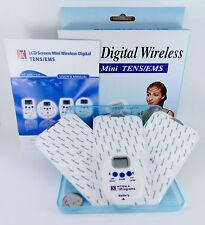 DIGITAL WIRELESS MINI TENS MACHINE & 2 EXTRA MINI PADS timer & 10 programs