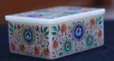 marble Box fine inlay Semi Precious Stone Pietra Dura Handicraft work