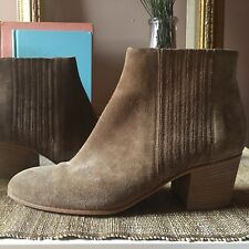 Vince Haider suede stretch ankle bootie brown