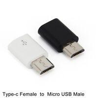 2pcs USB-C Type-c Femelle vers Micro USB Adaptateur Mâle Convertisseur ConneLTfw