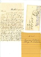 1870s Handwritten Letter George Lyman Andrews genealogy Woodhull NY envelope