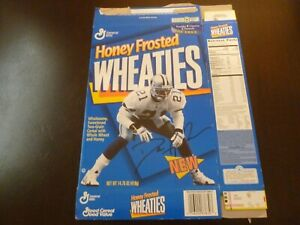 Dion Sanders Honey Frosted Wheaties Cereal Box Flat Dallas Cowboys