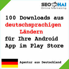 100 German downloads for Google Play Store - 100 users for your Android App