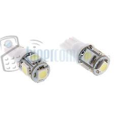 2 BOMBILLAS LED COCHE T-10 W5W 5 SMD 12V  LUZ BLANCA WHITE TIPO XENON 6000K T10