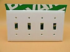 BRYANT 4 GANG WALL PLATE TUMBLER SWITCH COVER WHITE 83074 (LOT OF 1)