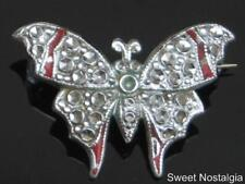 LOVELY VINTAGE 40/50'S CHARLES HORNER STAYBRITE BUTTERFLY BROOCH
