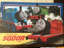 THOMAS AND FRIENDS FULL STEAM PLACEMATS SET OF 6 ZAK DESIGNS BPA FREE