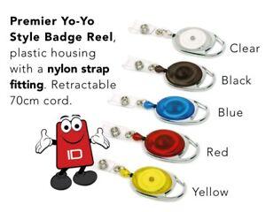 Badge Reel Retractable Yo Yo For Use With ID Card Holders or Ski Pass x 1