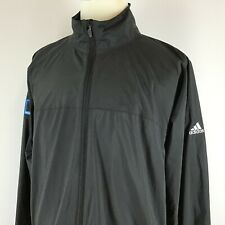 Adidas Climaproof Packable Rain Jacket Men's XL Black Embroidered Nationwide