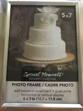 Special Moments Traditional Angled Silver Picture Frames, 5x7 in. NEW with glass