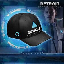 Game Detroit Become Human Black Baseball Cap Hat Snapback Cosplay Props Unisex