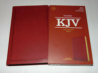 KJV Holy Bible, Burgundy Leather-Touch Cover, King James Version, Deluxe Gift Ed