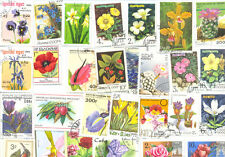 Flowers-Plants- stamps collection of 1000 all different-large-medium mainly