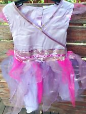Girl Kids Children Purple Princess Fairy Costume Halloween Dress 5-6 Years