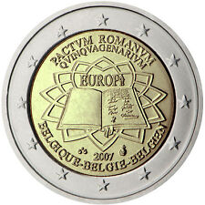 "Belgium 2 euro coin 2007 ""50th anniversary of the Treaty of Rome"" UNC"