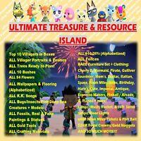 Animal Crossing Treasure Island / Resource Catalog/ TAKE Any Items: New Horizons