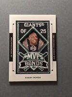 2003 Upper Deck Patch Collection Barry Bonds 'MVP' #MVP-19 San Francisco Giants