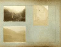 Caucase, Georgia. Mtskheta Mtianet  Vintage print. 3 photos 6 x 8 cm.  Tirage