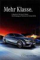 Mercedes E-Klasse Prospekt 2013 13.4.13 Autoprospekt brochure prospecto catalog