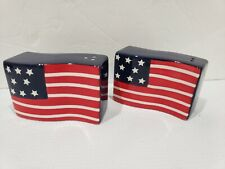 Patriotic American Flag Salt & Pepper shakers 4th of July Labor Day
