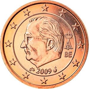 [#824932] Belgium, Euro Cent, 2009, Brussels, MS, Copper Plated Steel, KM:274