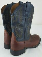 ARIAT Heritage Stockman 34927 Mens Round Toe Cowboy Boots Brown/Green Size 8 EE