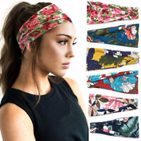 Boho Floral Headband SPA Wide Elastic Hair Bands Sport Sweatband Yoga Headwrap