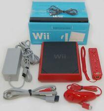 Nintendo Wii 8GB Mini Red/Black Video Game Console System RVL-201 Bundle 8-GB B