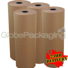 900mm x 225M x 4 PURE KRAFT BROWN PAPER ROLLS 88gsm